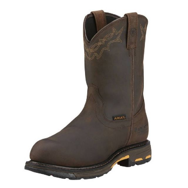 e23216172d5 Men's Ariat Workhog Pull-On H2O Oily Distressed Brown Composite ...