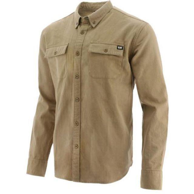 Men S Cat Button Up Long Sleeve Work Shirt