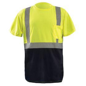 d62696ce5121 ... Men Occunomix Class 2 High Visibility Black Bottom Wicking Birdseye  Mest Safety T-Shirt