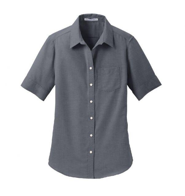 899272241cc6c3 Women's Port Authority Short Sleeve Superpro Oxford Shirt