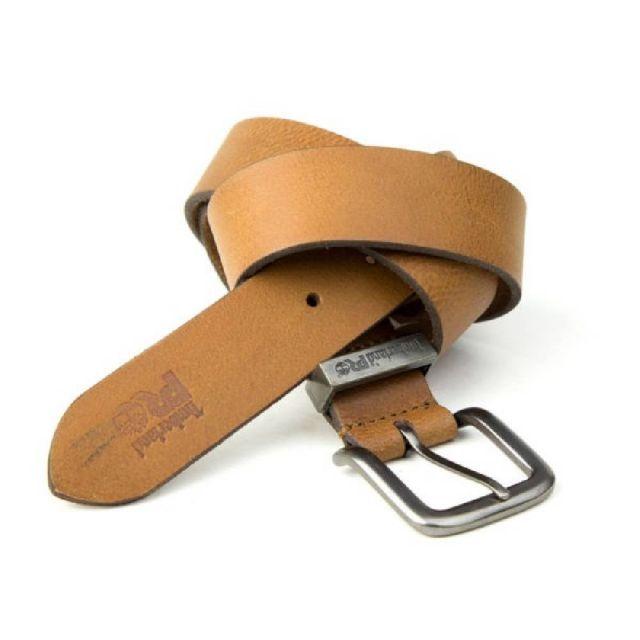 a469f25ad33 Timberland Pro Logo Stitch Pull-Up Leather Belt Wheat
